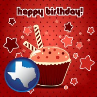 texas a happy birthday card